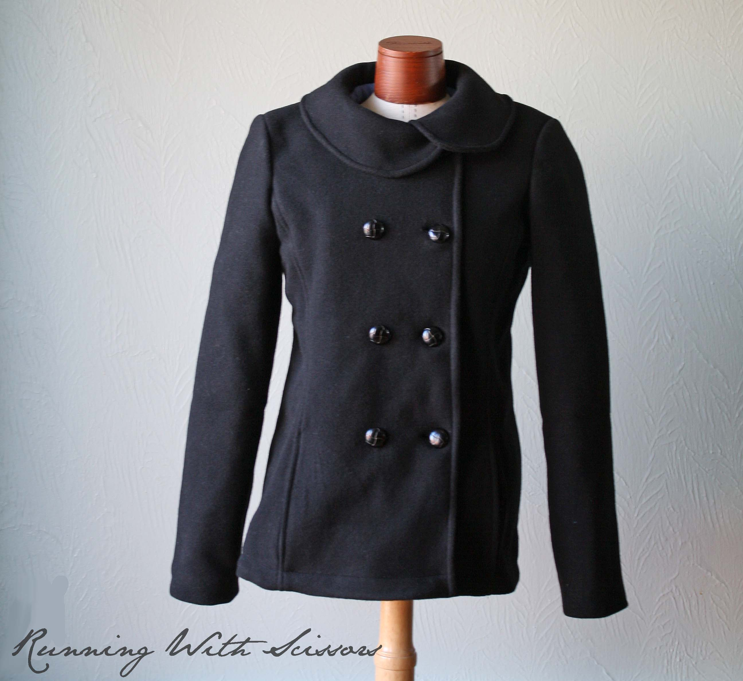 Round Collar Pea Coat Sewing Projects Burdastyle Com