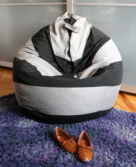 Striped Bean Bag Chair Sewing Projects