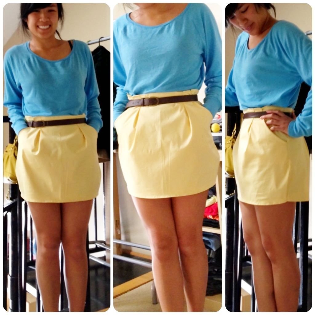 Yellow Bubble Skirt 77