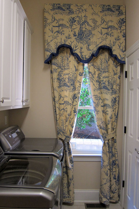 Curtains Ideas chinoiserie curtains : Chinoiserie Toile Window Treatment: Sort Cornice with Trim and Rod ...