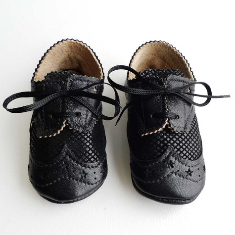 black and quot lizard quot leather baby boy crib dress shoes
