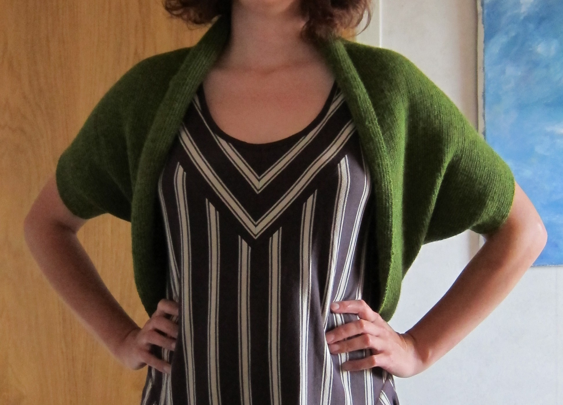 Machine Knitted Shrug Sewing Projects Burdastyle Com
