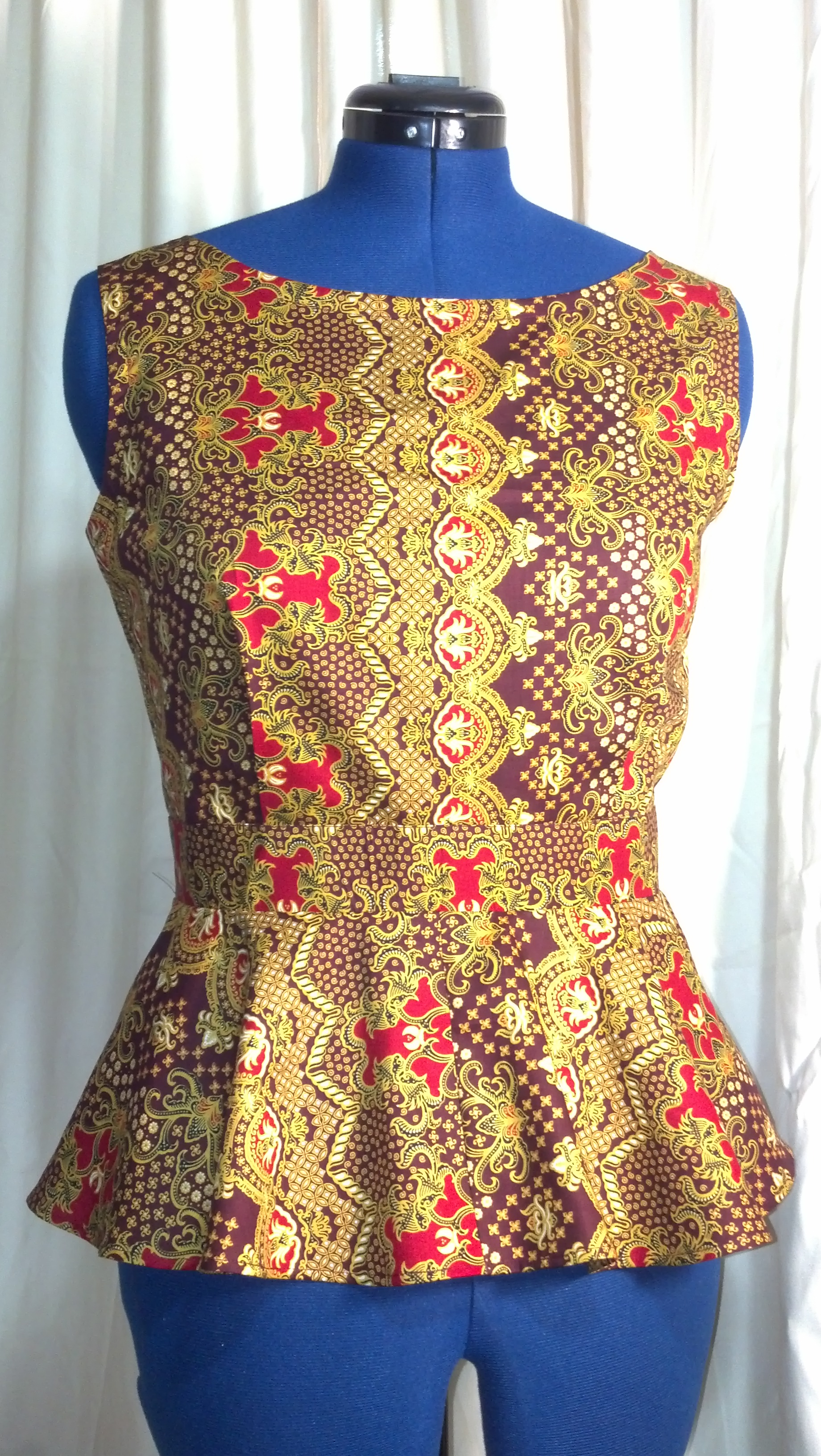 Batik Peplum Top – Sewing Projects