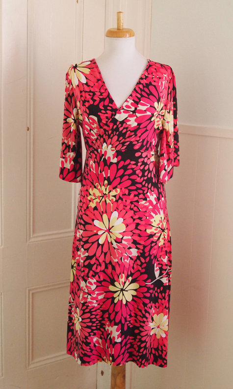 Faux Wrap Dress With Flutter Sleeves Sewing Projects