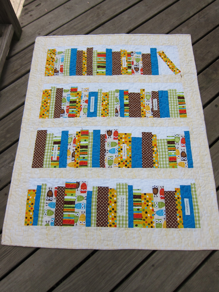 Bookshelf Baby Quilt – Sewing Projects | BurdaStyle.com