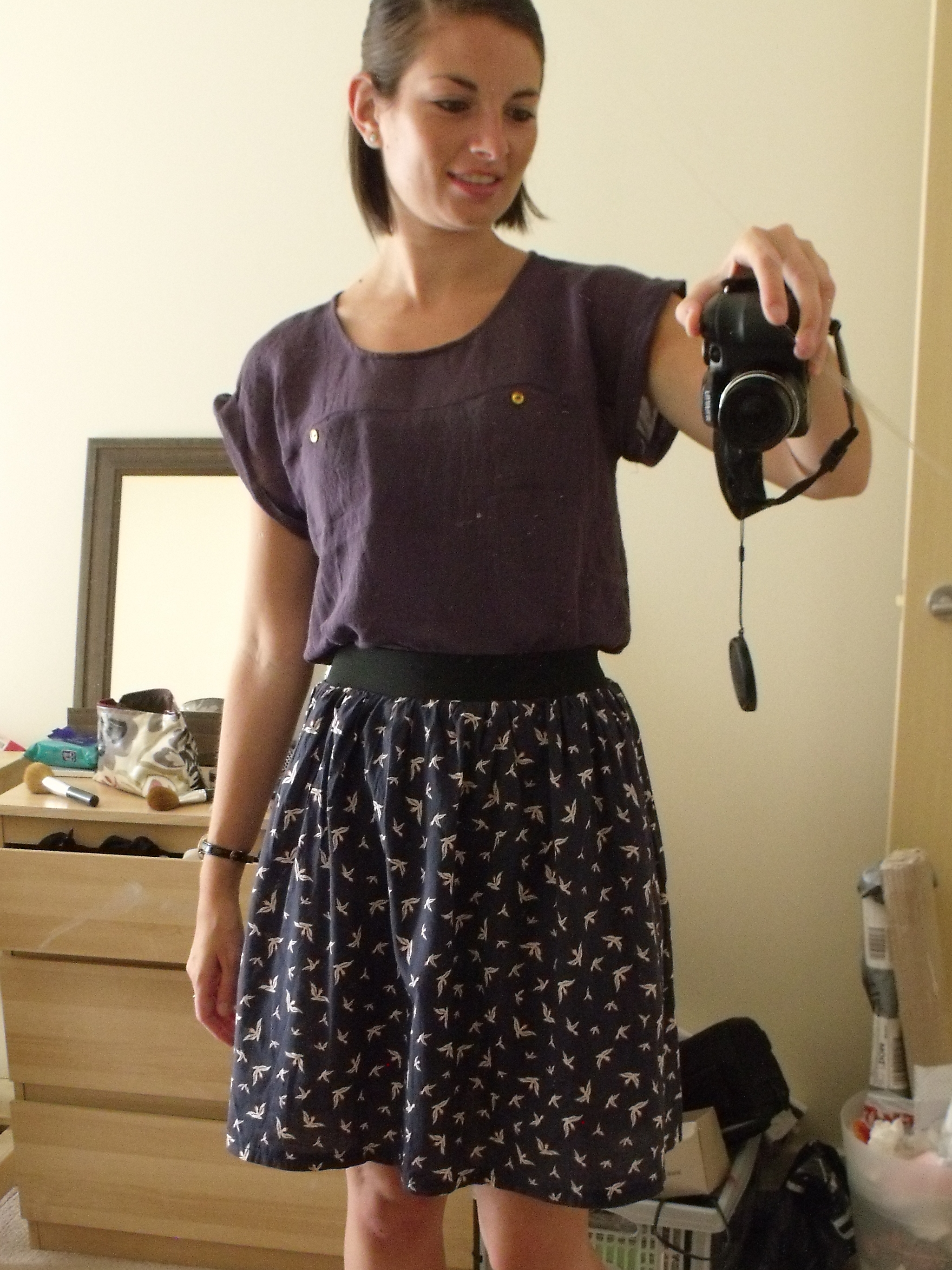 Exposed Elastic Waistband Skirt Sewing Projects