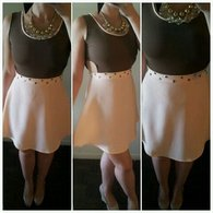 Peach_and_brown_dress_with_rhinestones_listing