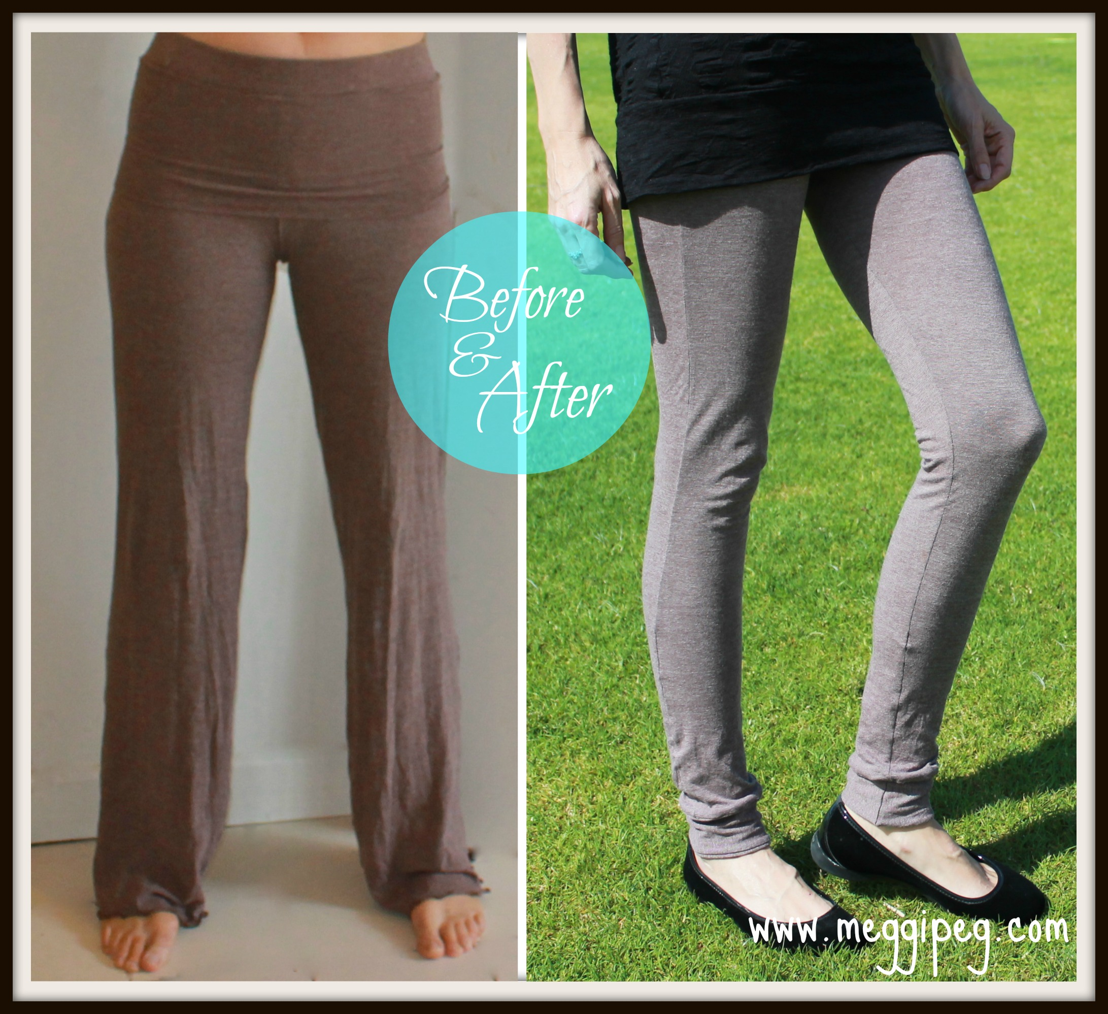 Refashion Yoga Pants Into Leggings With Cuffs