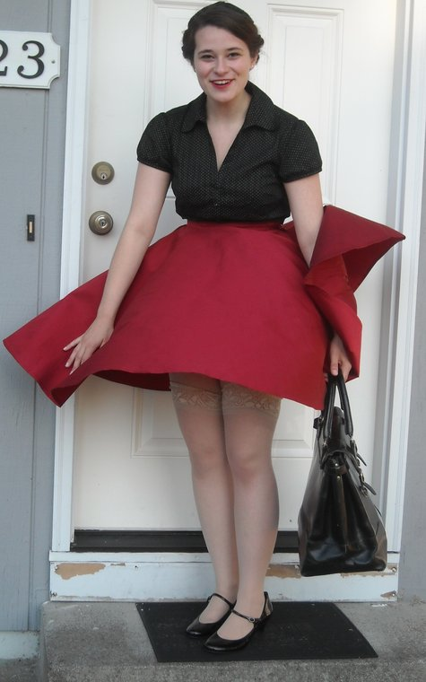 Taffeta Circle Skirt For Swing Dancing Sewing Projects