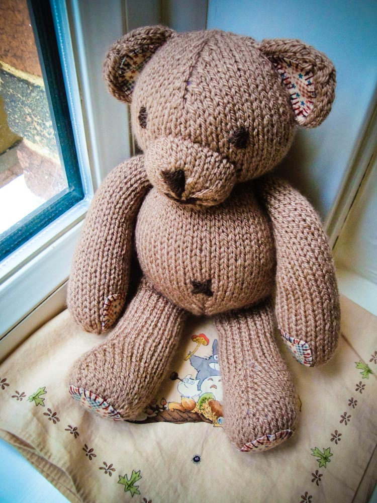 Simple Knitting Pattern For Teddy Bear : Babys First Teddy Bear   Sewing Projects BurdaStyle.com