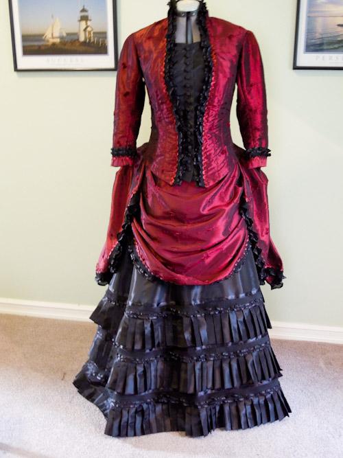 1880 S Victorian Dress Made With Burda Pattern 7880