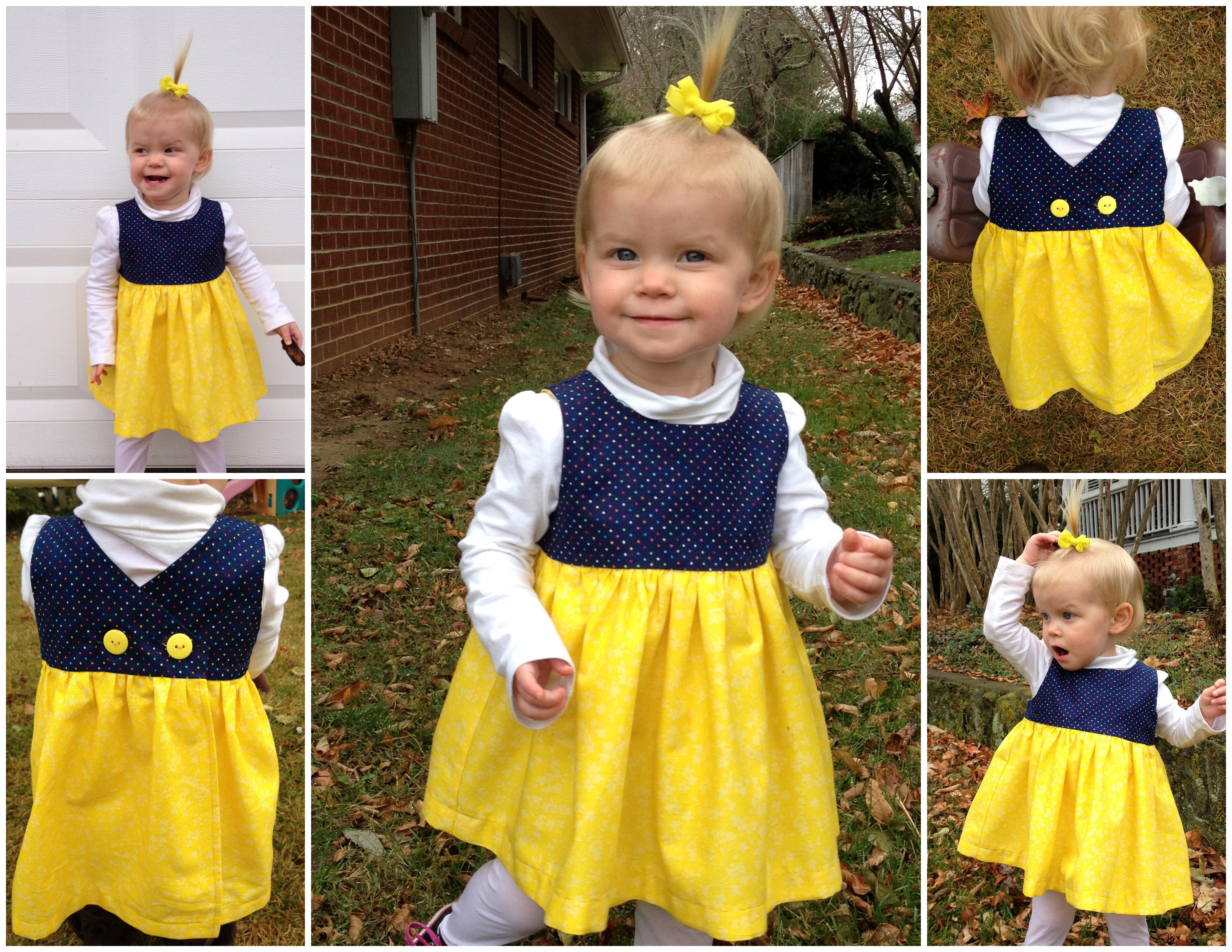 Как строится выкройка: платье для девочки 1 год 32