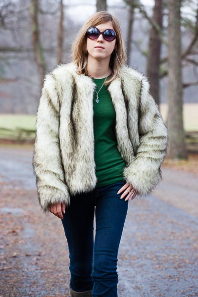Ciarra S Faux Fur Jacket Sewing Projects Burdastyle Com