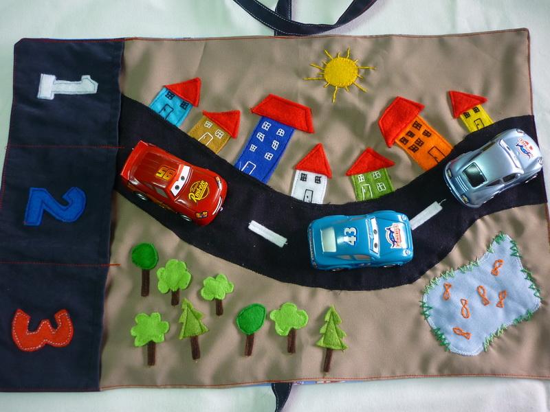 felt cars car play mat sewing projects burdastylecom