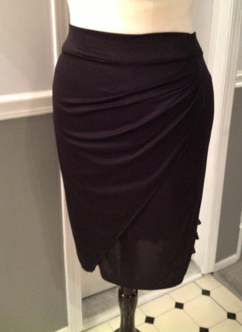 Ruffle Back Pencil Skirt
