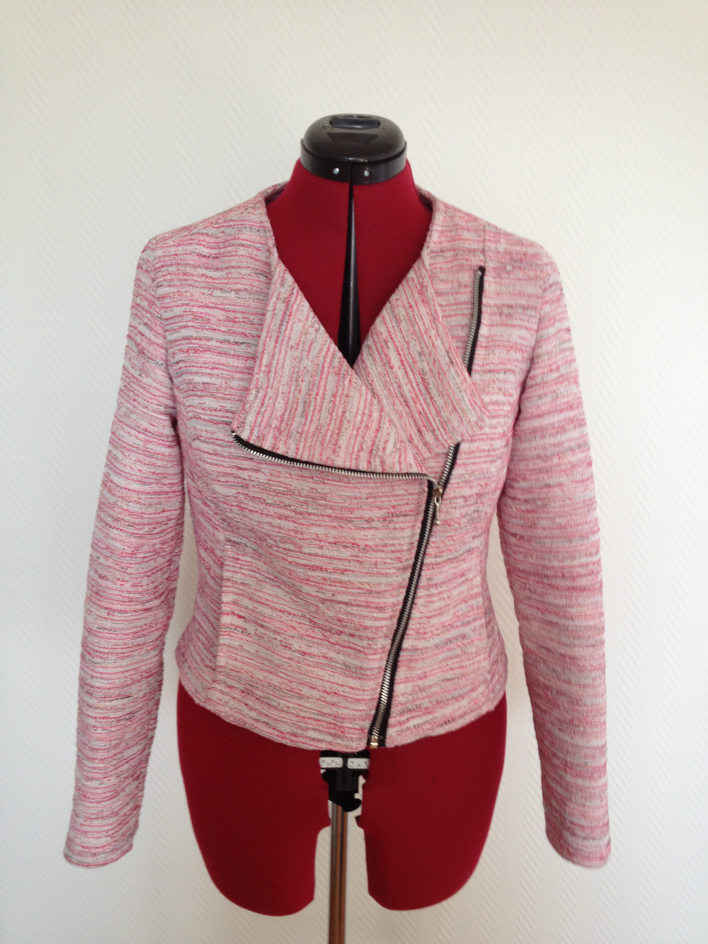 Boucle biker jacket – Sewing Projects