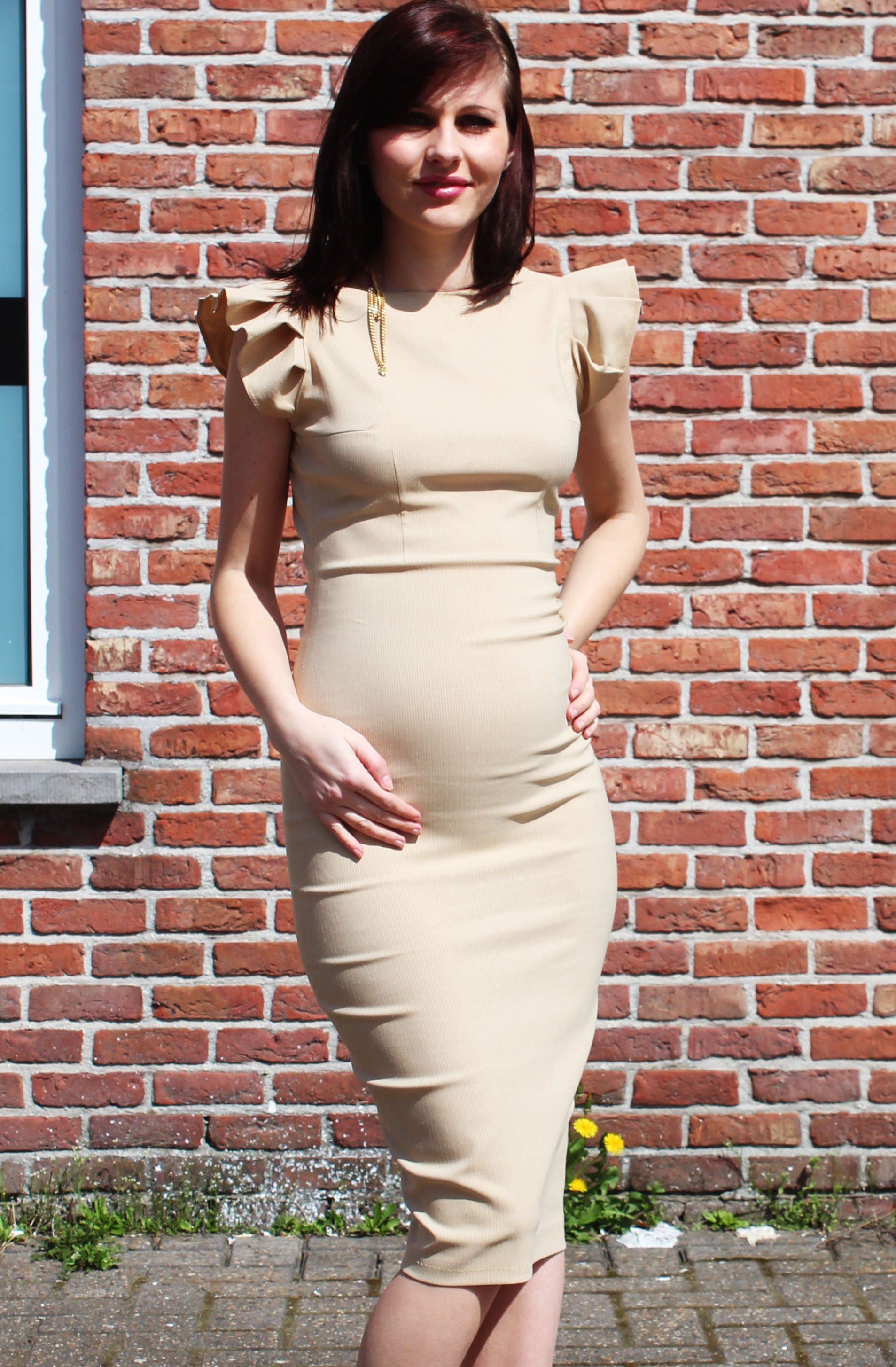 Pregnancy dress 18 weeks sewing projects burdastyle ombrellifo Choice Image