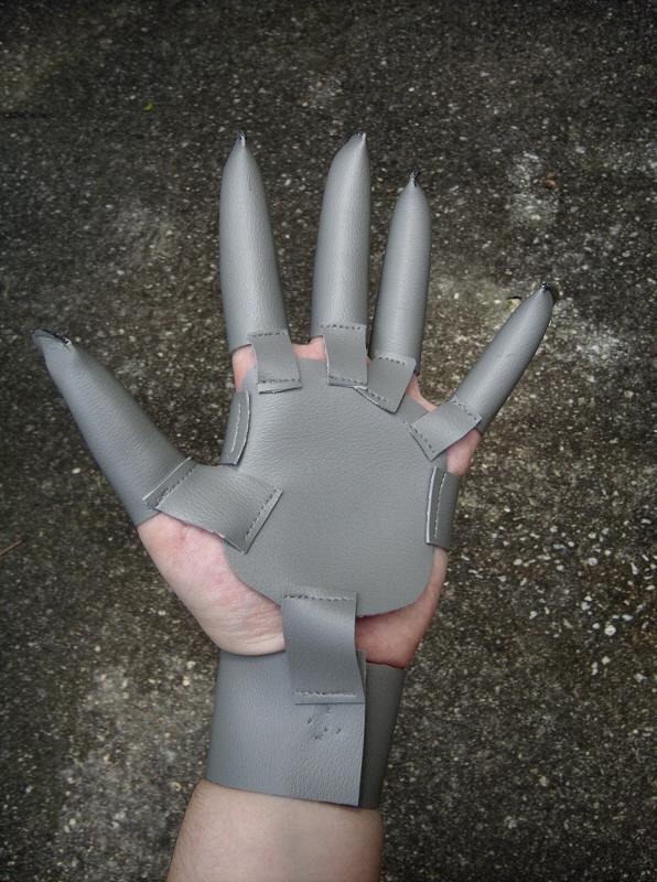 Grey Pleather Futuristic Superhero Glove Sewing Projects