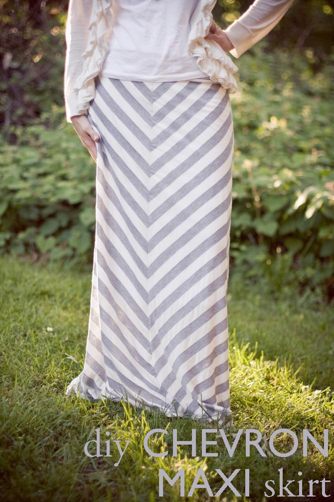 chevron maxi skirt � sewing projects burdastylecom