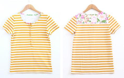 Mustard_floral_stripe_tee_front_back_large