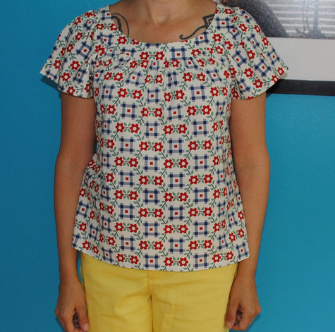 Simple Top Pattern Blouse 15