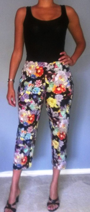 Floral Capri Pants – Sewing Projects | BurdaStyle.com