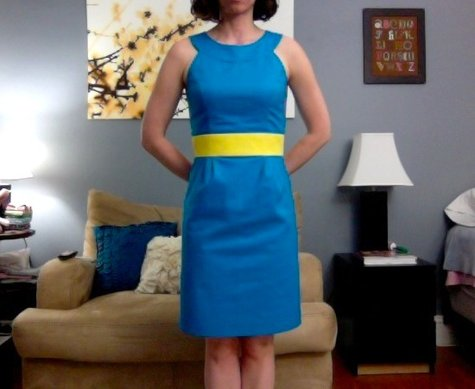 Turquoise_and_yellow_dress_-_butterick_5353_-_front_view_arms_back_large