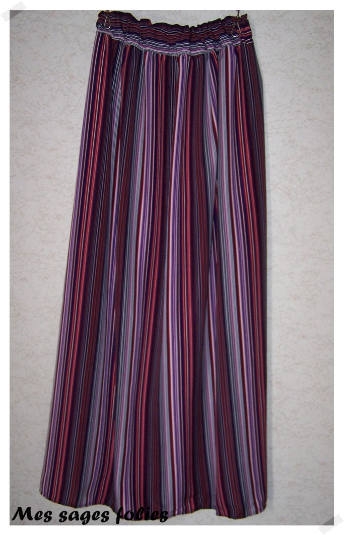 striped colorful maxi skirt sewing projects burdastyle