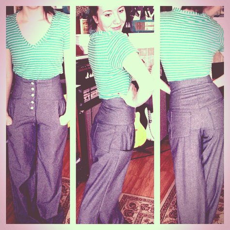 sewing wide leg pants - Pi Pants