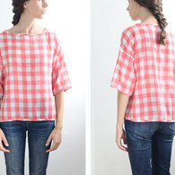 Handmade_gingham_picnic_top_japanese_pattern_2_listing