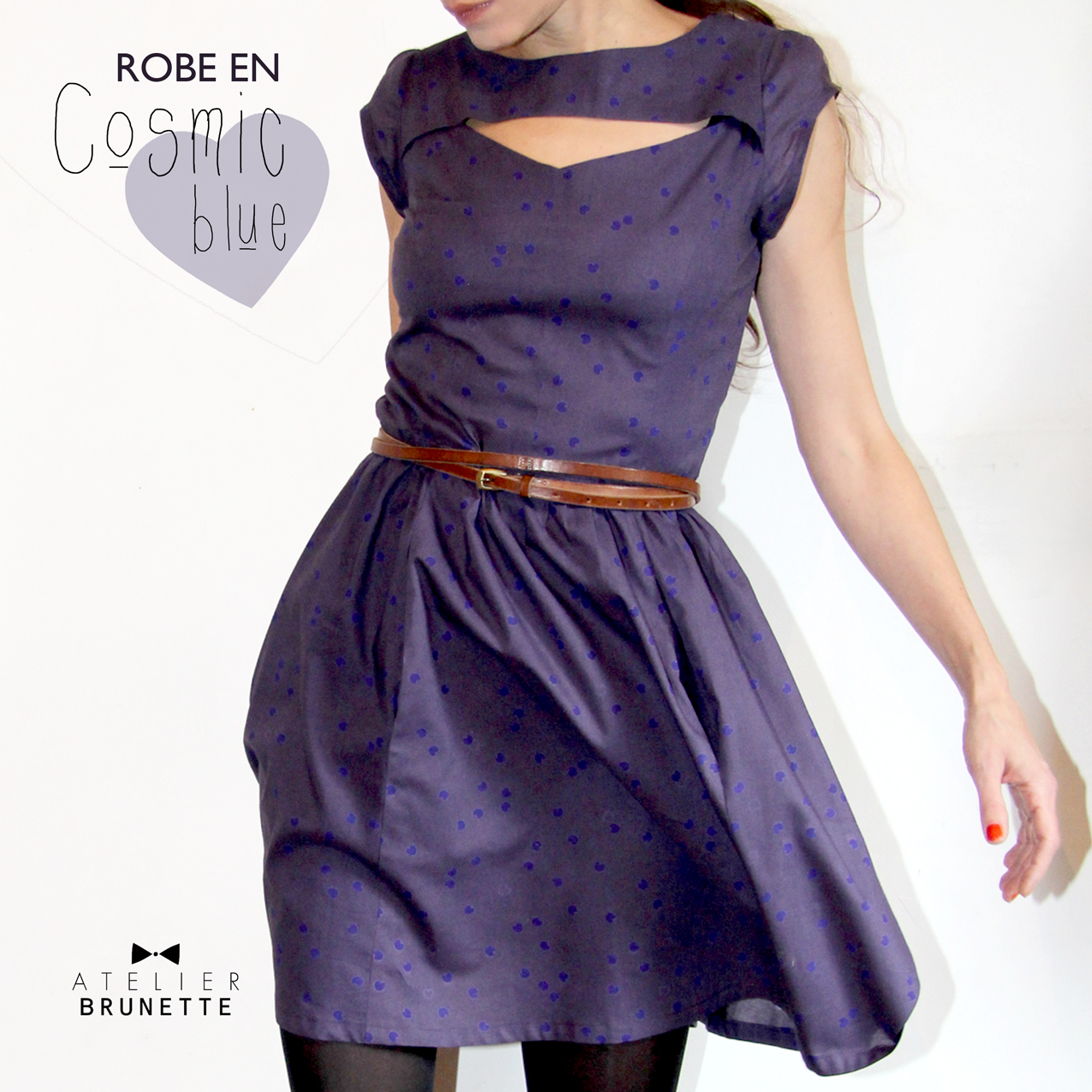 Dress in cosmic blue sewing projects for Cosmic pattern clothing