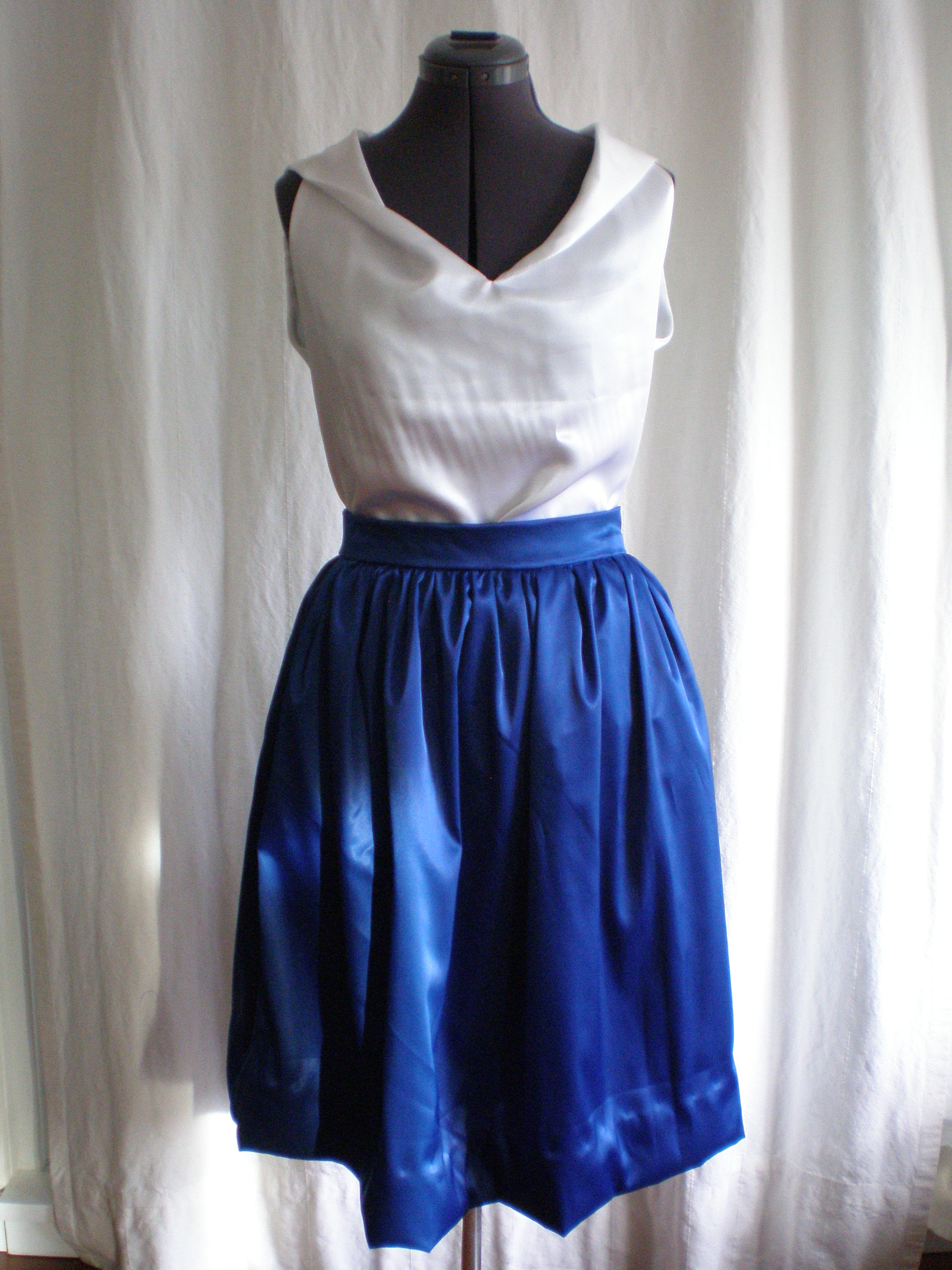 Satin Gathered Skirt Sewing Projects Burdastyle Com