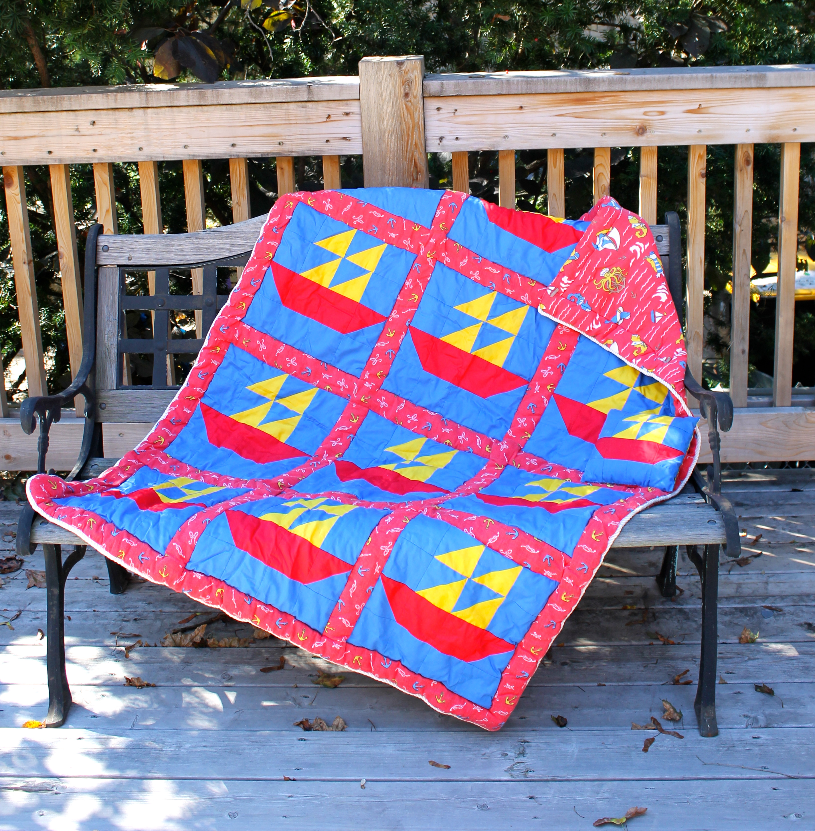 Nathans Toddler Bed Sailboat Quilt Sewing Projects