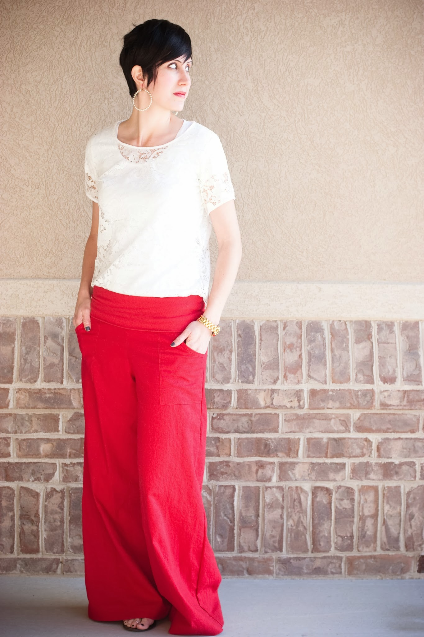 Super Wide Leg Linen Pants Sewing Projects Burdastyle Com