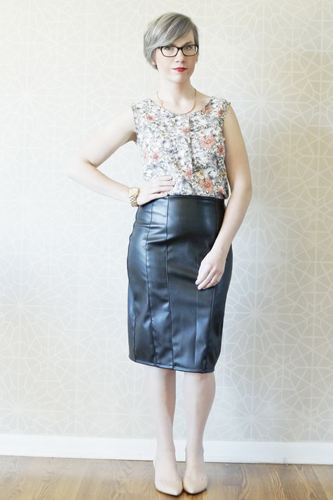 Free Leather Pencil Skirt Pattern Sewing Projects