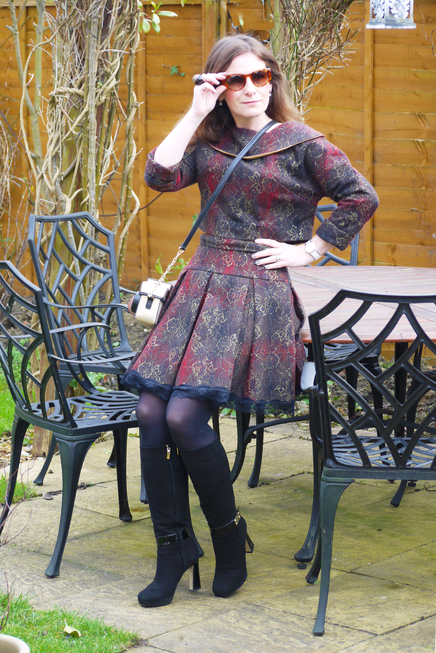 60s crop top, corset and double belt pleat skirt – Sewing Projects  BurdaStyle.com