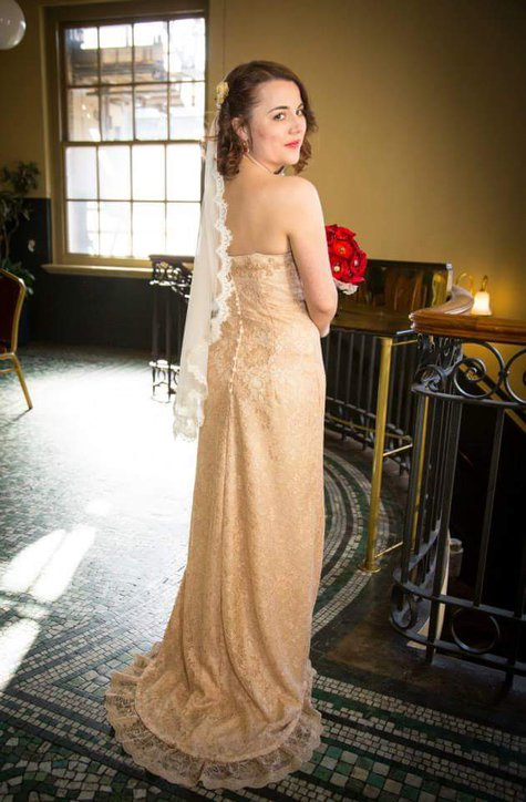 My Wedding Dress Vogue 2237 In Champagne Lace Sewing
