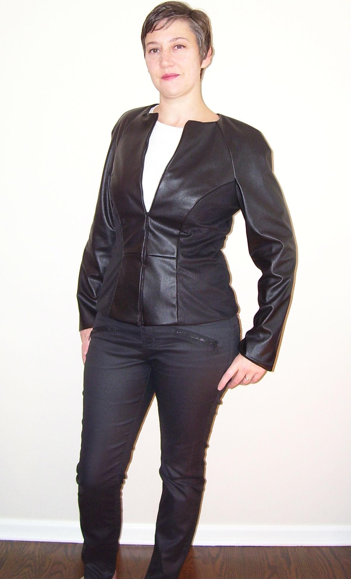 Burda 7140 jacket in faux leather by mahlicadesigns ...