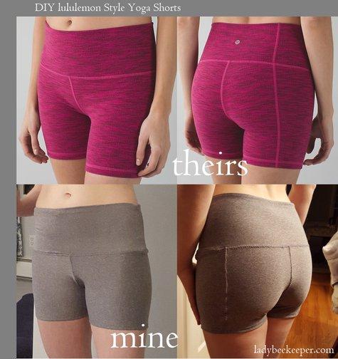 Lululemon Inspired Yoga Shorts