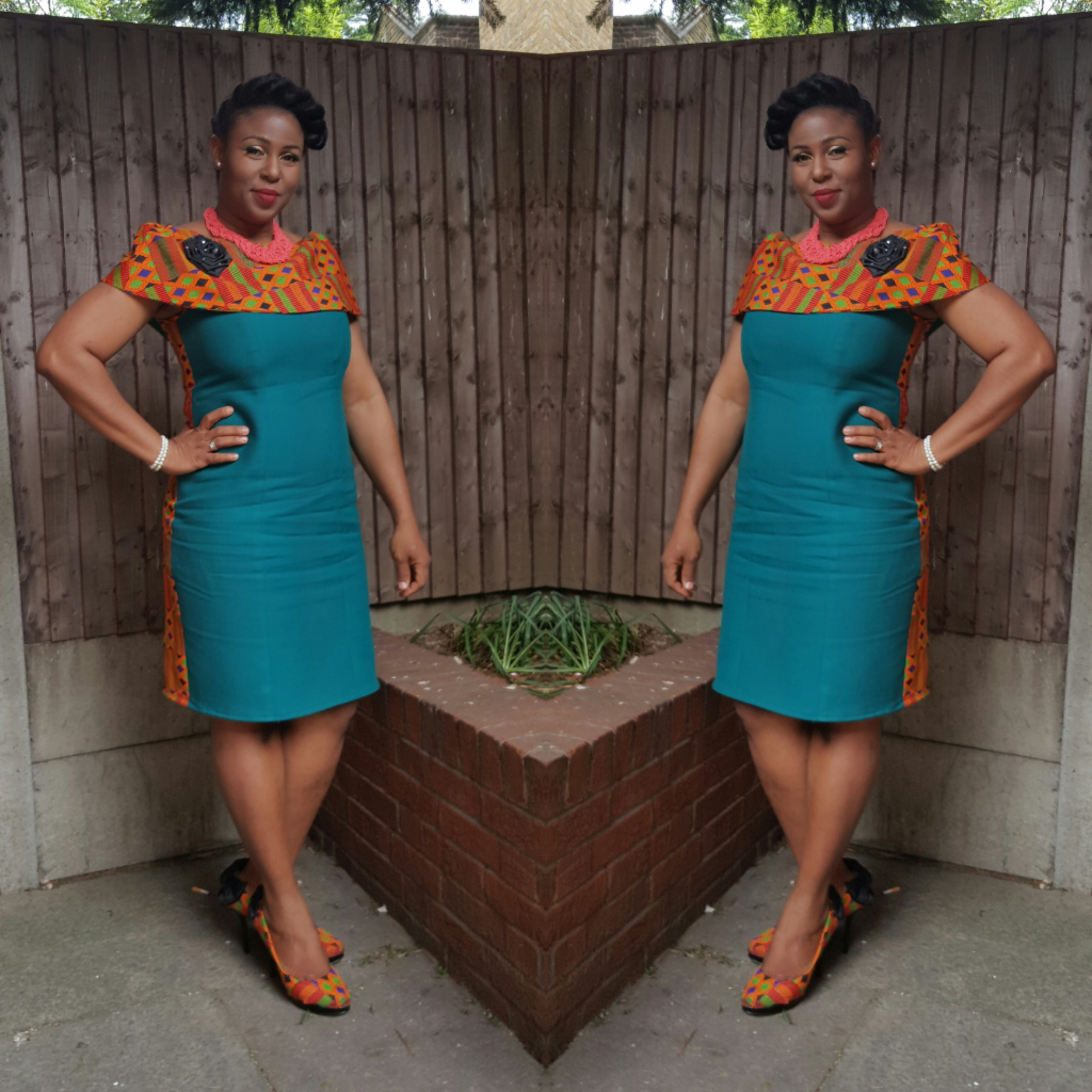 Kente Cape Dress1 – Sewing Projects