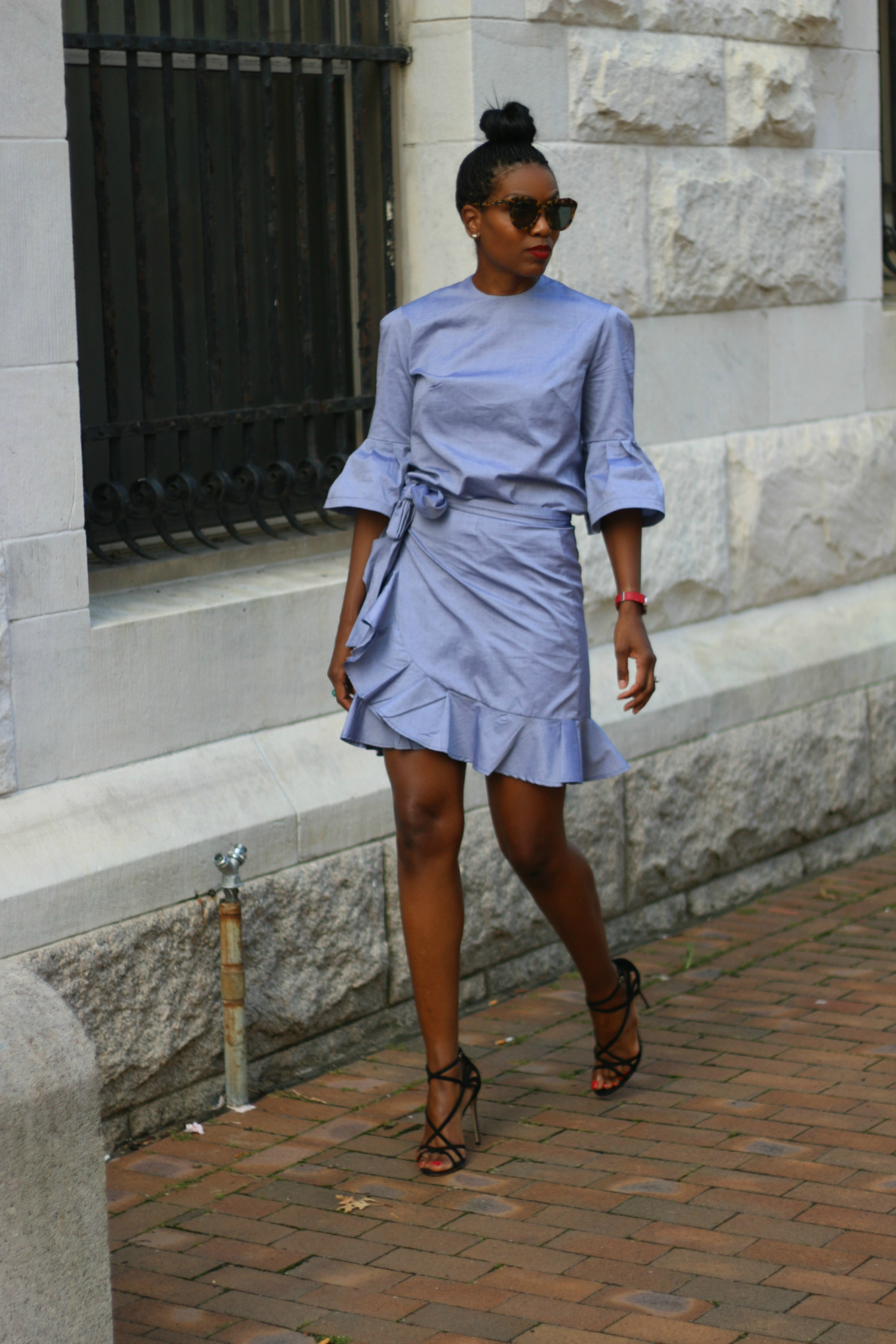 Ruffle Wrap Skirt And Bell Top Sewing Projects