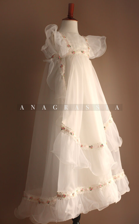 Wedding Dresses For Grandma : Christening gown from a grandmother s wedding dress sewing