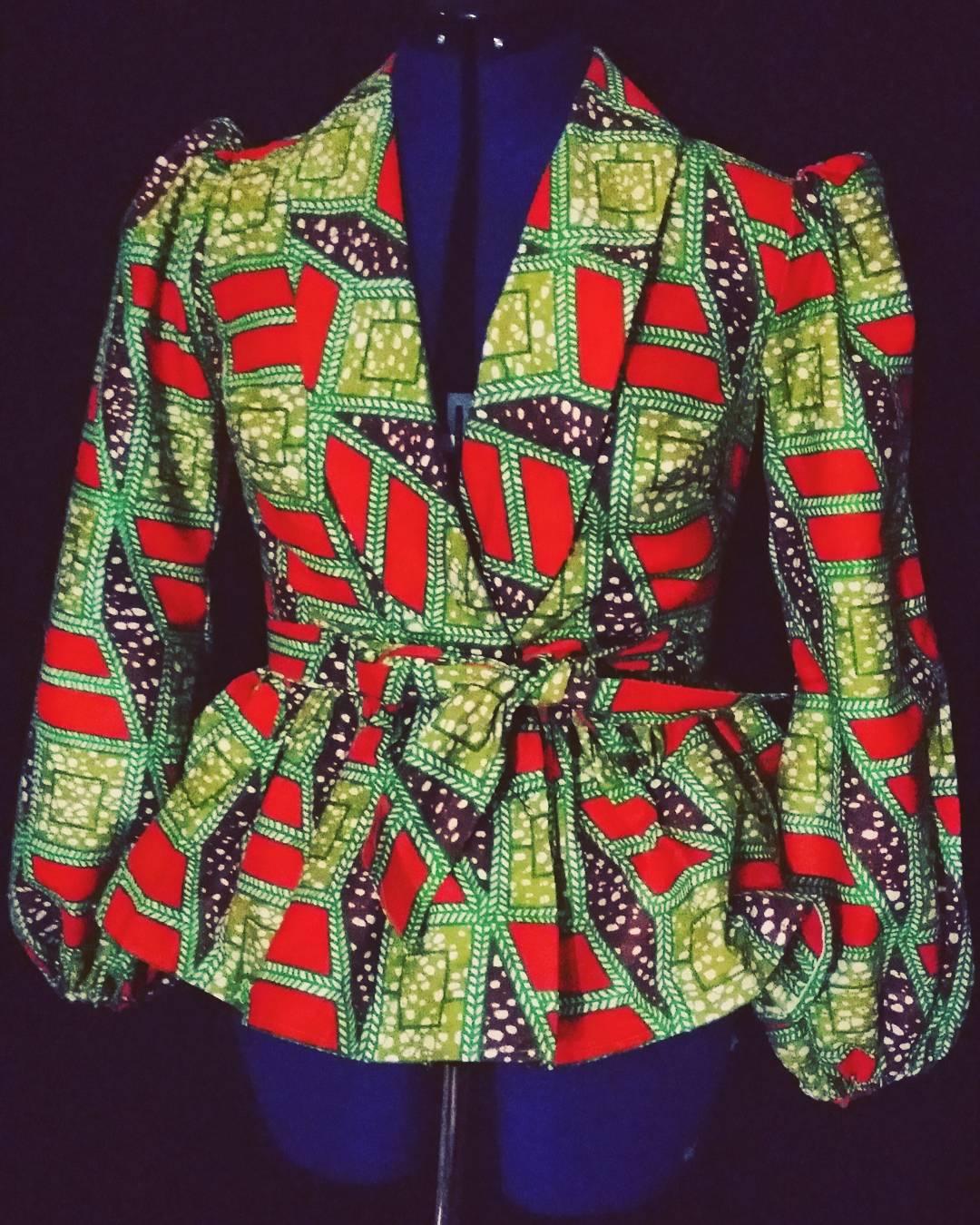 ankara peplum wrap blazer � sewing projects burdastylecom