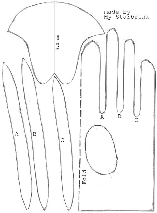 Как сшить перчатки выкройки для детей