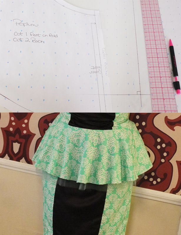 Burda Style Peplum Drafting Tutorial