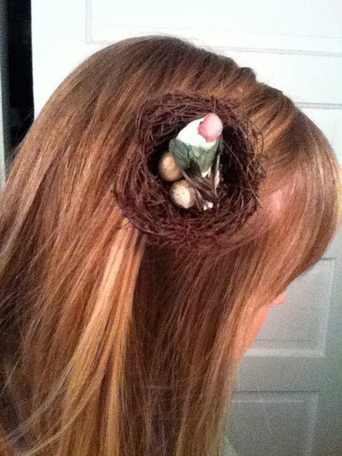 birds nest hair style modcloth handmade contest bird s nest hair clip amp brooch 6905